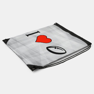 I Love To Play Rugby Drawstring Bag