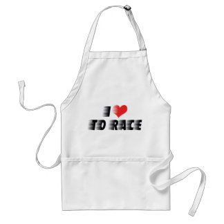 I Love To Race Standard Apron