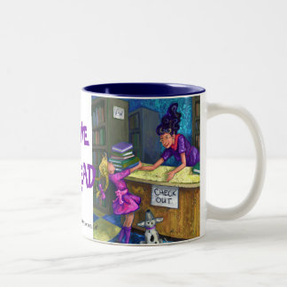 I Love to Read Book Check Out Mug