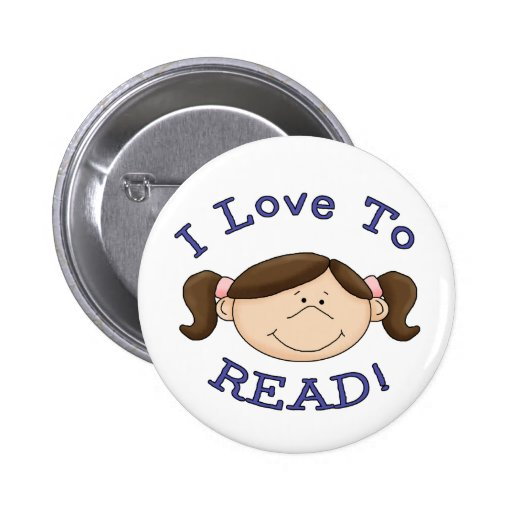 I Love to Read Button