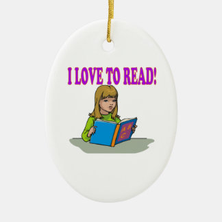 I Love To Read Ceramic Ornament