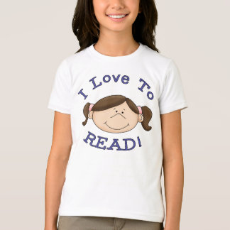 I Love to Read Girl T-Shirt