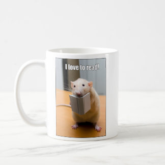 I love to read!  Marty Mouse Mug