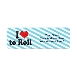 I Love to Roll Return Address Labels