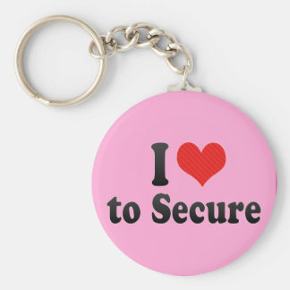 I Love to Secure Keychains