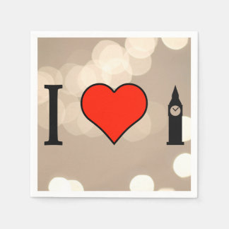 I Love To See The Big Ben In London Napkin