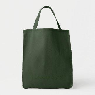I love to shop bag