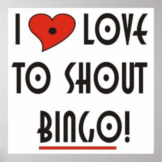 I Love to Shout Bingo Poster