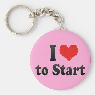 I Love to Start Key Chain
