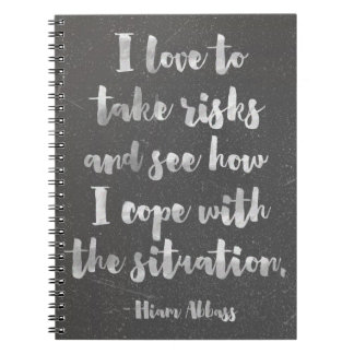 I Love To Take Risks Quote Spiral Notebook
