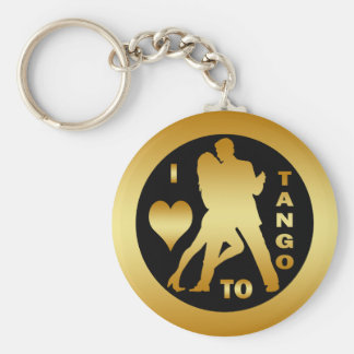 I LOVE TO TANGO BASIC ROUND BUTTON KEYCHAIN