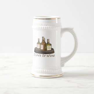 I love to wine T-shirts and Gifts. Beer Steins