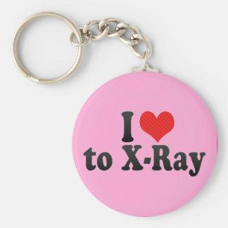 I Love to X-Ray Basic Round Button Keychain