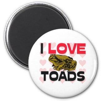 I Love Toads Magnet