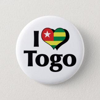 I Love Togo Flag 2 Inch Round Button