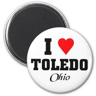 I love Toledo, Ohio 2 Inch Round Magnet