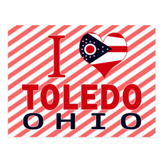 I love Toledo, Ohio Postcard