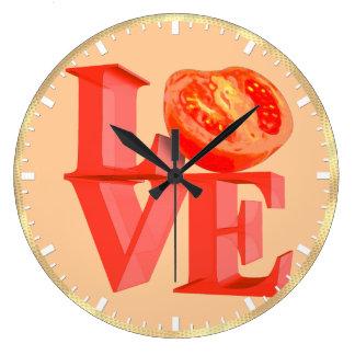 I LOVE TOMATO LARGE CLOCK