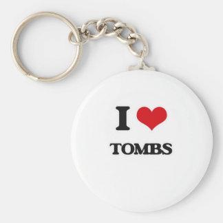 I Love Tombs Keychain