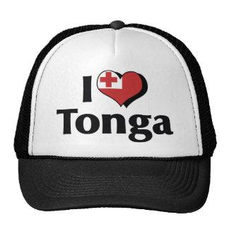 I Love Tonga Flag Trucker Hat