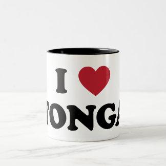 I Love Tonga Two-Tone Coffee Mug