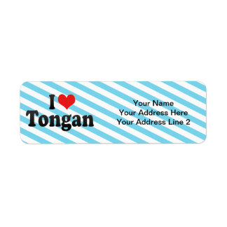 I Love Tongan Return Address Label