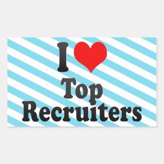 I love Top Recruiters Sticker