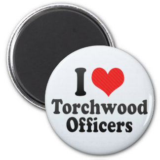 I Love Torchwood Officers 2 Inch Round Magnet