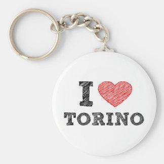 I Love Torino Keychain