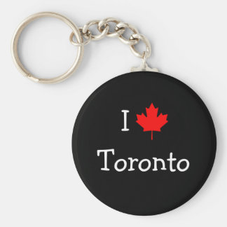 I Love Toronto Basic Round Button Keychain