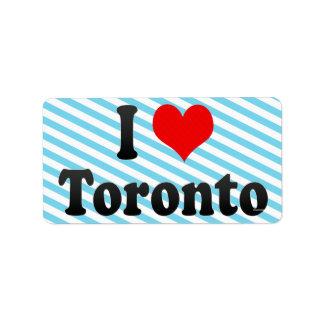 I Love Toronto Canada Personalized Address Label