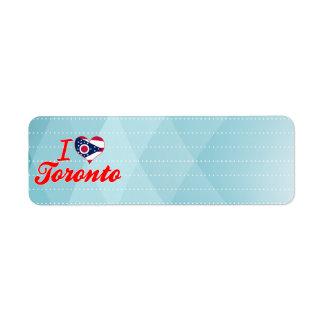 I Love Toronto Ohio Custom Return Address Label