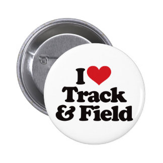 I Love Track and Field 2 Inch Round Button