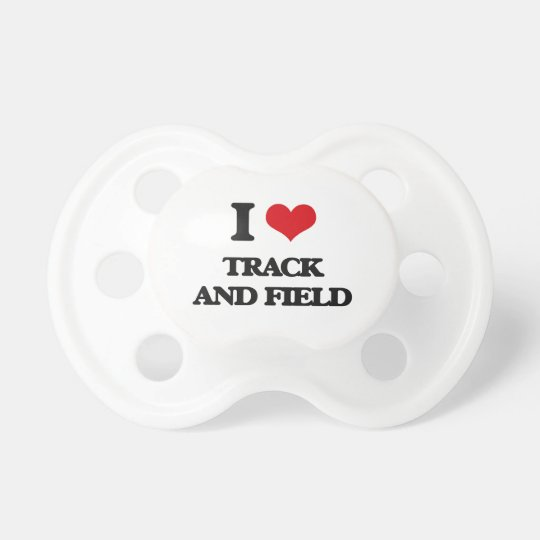 I love Track And Field Baby Pacifiers