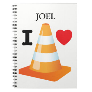 I Love Traffic Cones Fun Student Graduation Notebooks