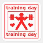 I Love Training Day Square Sticker