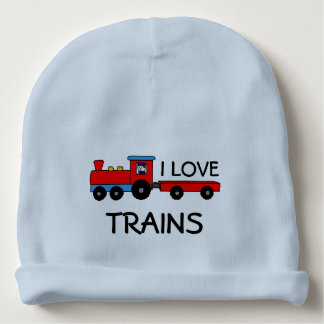 I Love Trains Baby Hat Baby Beanie
