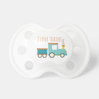 I Love Trains Baby Pacifiers