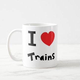 I love trains coffee mug