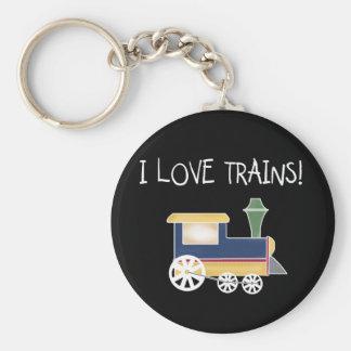 I Love Trains Tshirts and Gifts Keychain