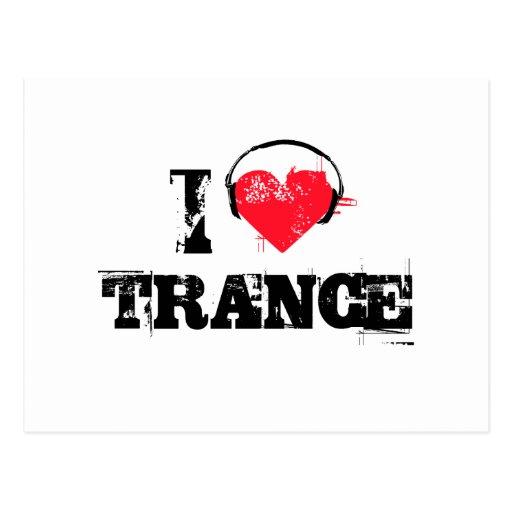 I love trance postcard
