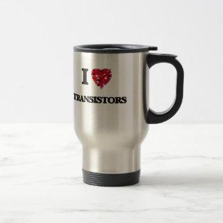 I love Transistors Stainless Steel Travel Mug