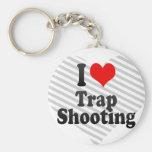 I love Trap Shooting Keychain