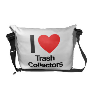 i love trash collectors courier bag