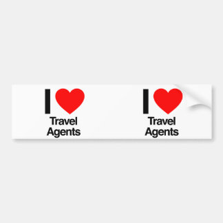 i love travel agents bumper stickers