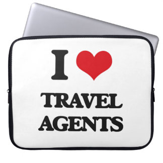 I love Travel Agents Computer Sleeve