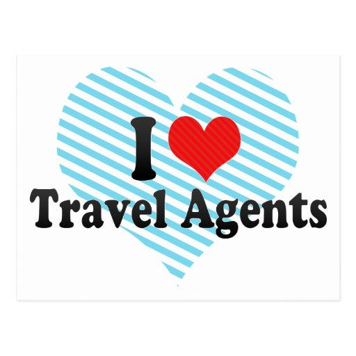 I Love Travel Agents Post Cards