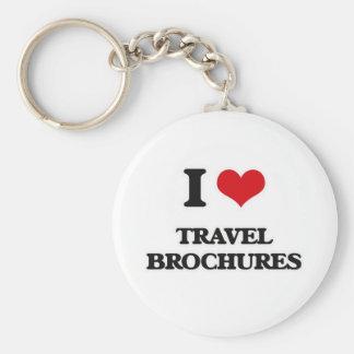 I Love Travel Brochures Keychain