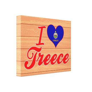 I Love Treece, Kansas Stretched Canvas Prints