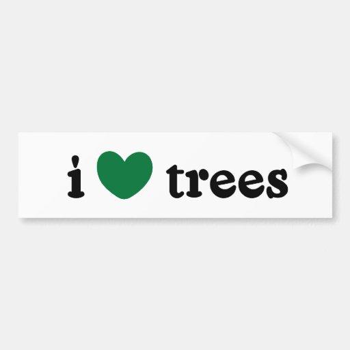I Love Trees Bumper Sticker